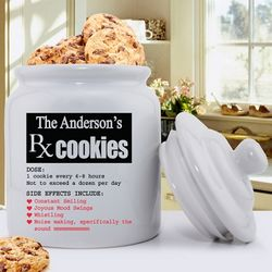 Prescription for Smiles Personalized Ceramic Cookie Jar