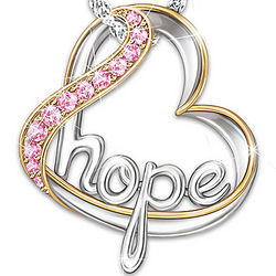 Heart of Hope Breast Cancer Awareness Pendant Necklace