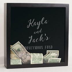Personalized Honeymoon Fund Shadow Box