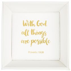 With God All Thing Are Possible Tray
