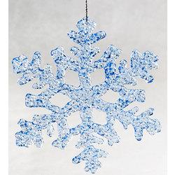 Blue Snowflake Memorial Ornament