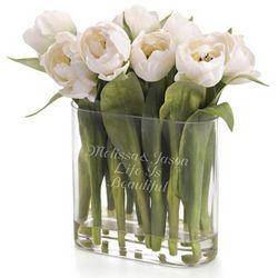 White Tulip Flower Arrangement