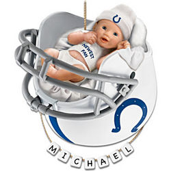 Personalized Indianapolis Colts Baby's First Christmas Ornament