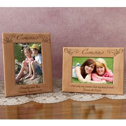 Personalized Royale Cousins Wooden Picture Frame
