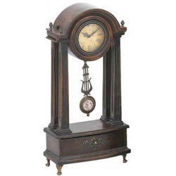 Wood Mantle Clock with Pendulum