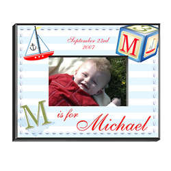 Personalized Sailor Boy Picture Frame