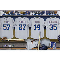 Detroit Tigers 16x24 Personalized Locker Room Canvas