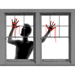 Bloody Screamer Window Poster