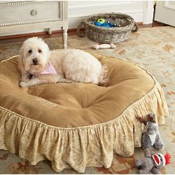 Skirted Suede Pet Bed