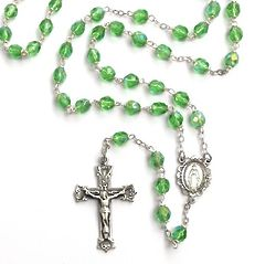 Bohemian Glass August Birthstone Rosary