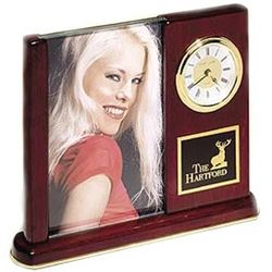 Personalized Executive Clock and Picture Frame
