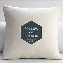 Personalized Follow Your Dreams Throw Pillow Cover