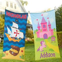 Kids Adventure Personalized Beach Towel