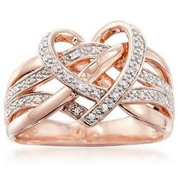 Diamond Heart Ring in 18 Karat Gold
