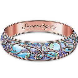 Thomas Kinkade Engraved Serenity Copper Wellness Bracelet