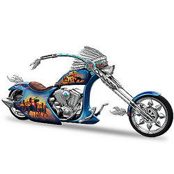 Warriors Call Motorcycle Figurine with Dan Mieduch Artwork