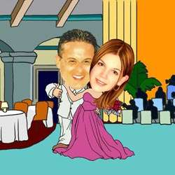 Your Photo in a Ballroom Dancing Caricature