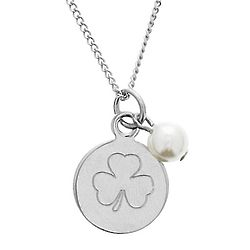 Personalized Irish Pearl and Charm Necklace