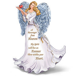 Forever With You Illuminated Crystal Winged Angel Figurine