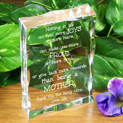 Engraved Mothers Day Keepsake