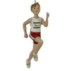 Runner Boy Personalized Christmas Ornament