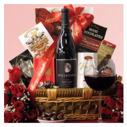 Spellbound Petite Sirah Valentine's Day Romantic Gift Basket