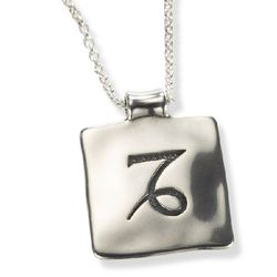 Capricorn Zodiac Necklace and Pendant in Sterling Silver