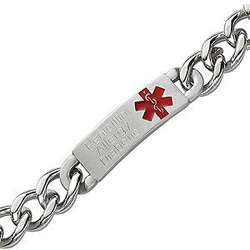 Stainless Steel ID Medical Alert Bracelet
