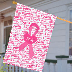 Personalized Breast Cancer Awareness House Flag