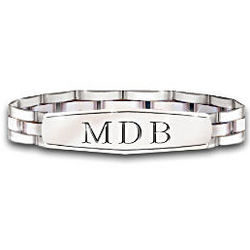 My Son Personalized Men's Stainless Steel Bracelet