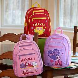 Girl's Personalized Create Your Own Backpack