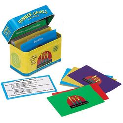 Dinner Games Card Set in Colorful Metal Tin