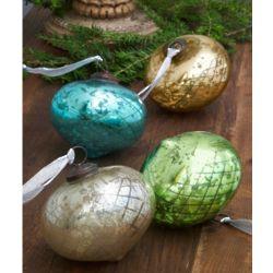 Mercury Glass Finial Ornaments
