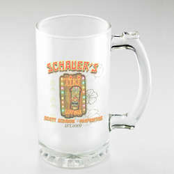Personalized Tiki Lounge Frosted Beer Mug