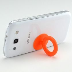 Orange Silicone Suction Cup Ring Stand Holder
