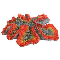 Orange and Gray Coral Aquarium Ornament