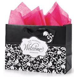 Damask Wedding Weekend Gift Bags