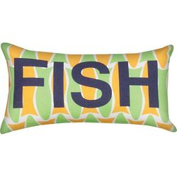 Lime Green Fish Pillow