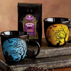 Witch's Brew Coffee and Mugs Gift Set