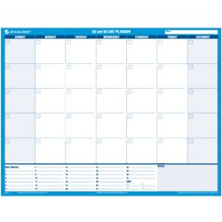 30/60-Day Undated Horizontal Erasable Wall Planner