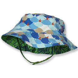 Infant and Toddler Boy's Reversible Sun Bucket Hat