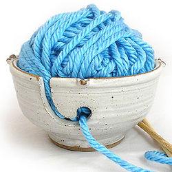 Handmade Stoneware Yarn Bowl