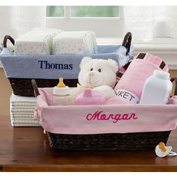 Personalized Kids' Wicker Basket Liner
