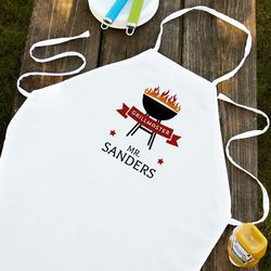 Red Ribbon Grillmaster Personalized Apron