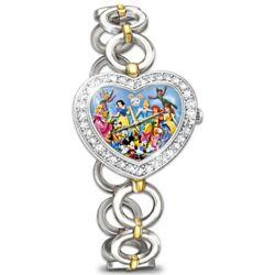 Women's Disney Character Magic Art Watch with Swarovski Crystals