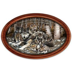 Family Treasures Wolf Art Personalized Collector Plate