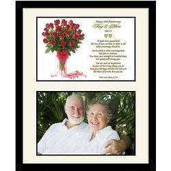50th Wedding Anniversary Couple Personalized Poem Frame
