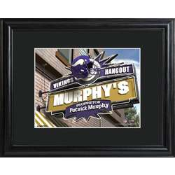 Minnesota Vikings Personalized Framed Tavern Sign