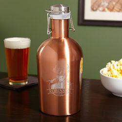 Personalized Outdoor Life Copper-Tone Steel Beer Growler