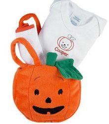 Baby's Halloween Pumpkin Gift Set